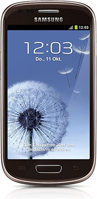 Samsung Galaxy S3 Mini i8190 Smartphone (10,2 cm (4 Pulgadas) Pantalla AMOLED, Dual Core, 1 GHz, 1 GB de RAM, cámara de 5 Mpx, Android 4.1) – Marrón [EU Versión]: Amazon.es: Electrónica