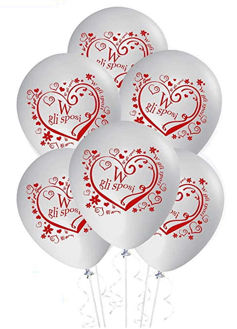 026c5282eb7d ocballoons Palloncini Matrimonio sposi Decorazioni addobbi Festa Gas Elio  Party Wedding 20pz