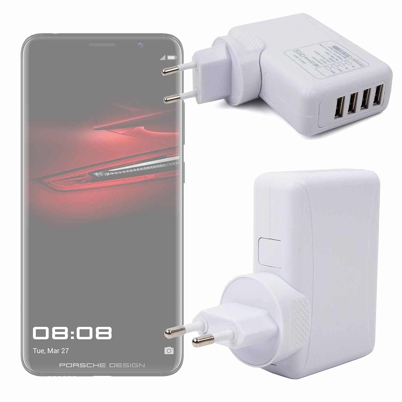DURAGADGET Cargador De Viaje Blanco para Smartphone Huawei ...