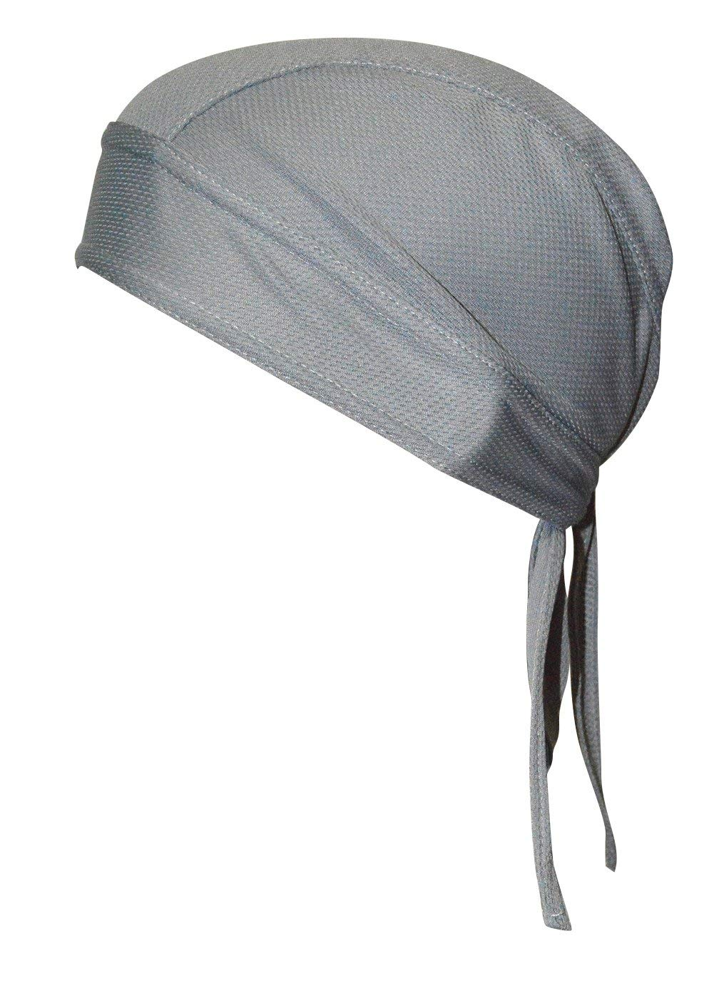 QING Sweat Wicking Beanie Cap Hat Chemo Cap Skull Cap for Men and Women (Gray 1 Pack) by QING