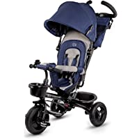 Kinderkraft driewieler AVEO, duwfiets, duwdriewieler, eerste kinderfiets, vrije wiel functie, met zonnekap, duwstang…