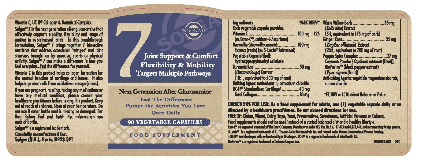 Solgar 7 Suplementos - 90 Cápsulas Vegetales: Amazon.es: Salud y cuidado personal