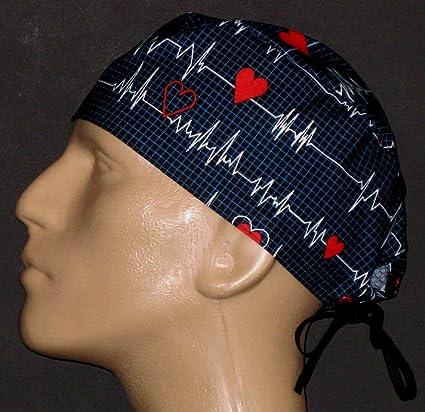 d7b8f90978d Amazon.com : Anesthesia, EKG, ECG Black Surgical Scrub Hat : Everything Else