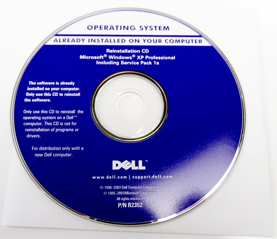 Amazon.com: Dell Microsoft Windows XP Professional Includes Service Pack 1a  P/N: R2352 Operating System Driver PC Computer Software Program Recovery ...