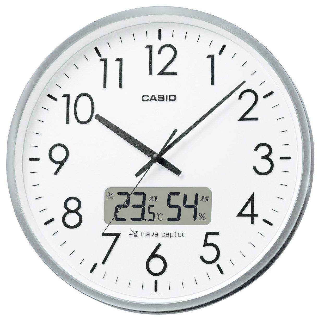 CASIO (カシオ) 電波アナログ掛け時計 温度湿度表示 オフィスタイプ IC-2000J-8JF IC-2000J-8JF B00170KG9C