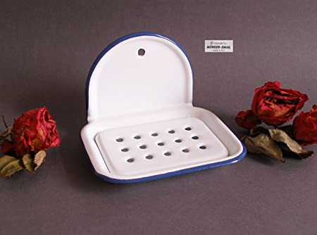 2565206b89 Image Unavailable. Image not available for. Colour: MOUTHS EMAIL ENAMEL  NOSTALGIA Wall-Mounted SOAP DISH ...