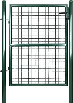 SONGMICS Puerta para jardín de Hierro 125 x 100 cm GGD175G: Amazon.es: Bricolaje y herramientas