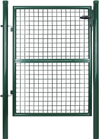 SONGMICS Puerta para jardín de Hierro 125 x 100 cm GGD175G: Amazon ...