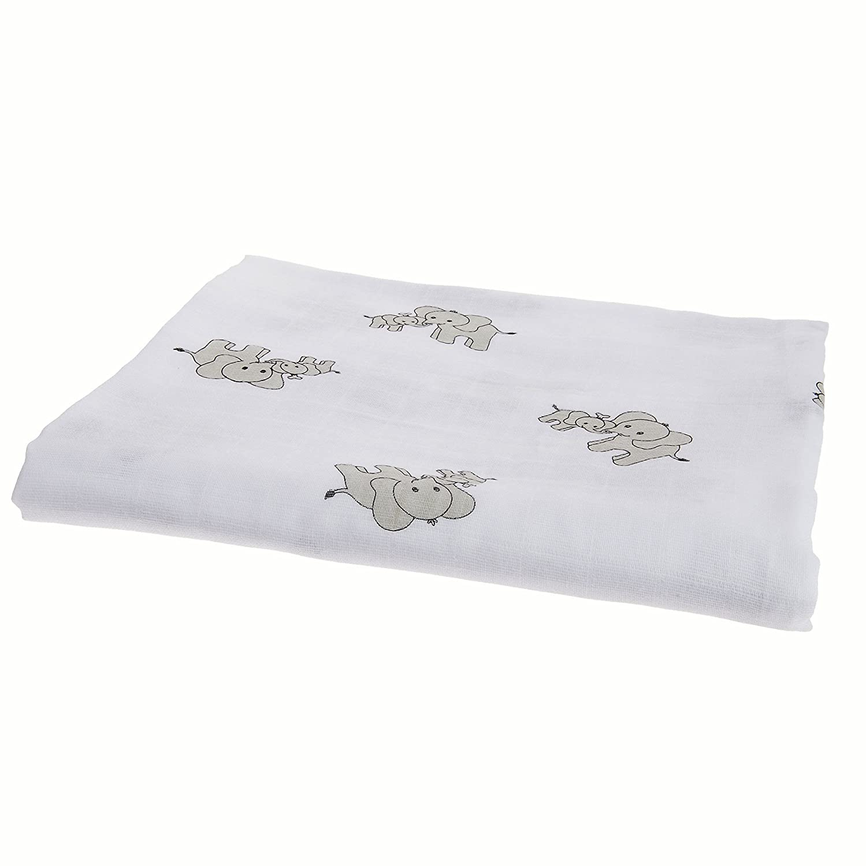 Amazon.com: Soft Cotton muselina swaddle de bebé mantas 4 ...
