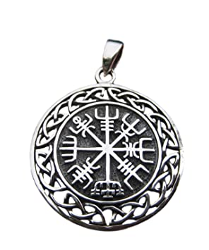 2891a263ed4 925 Silver Viking Norse Celtic Trident Pendant Necklace jewelry Art ...