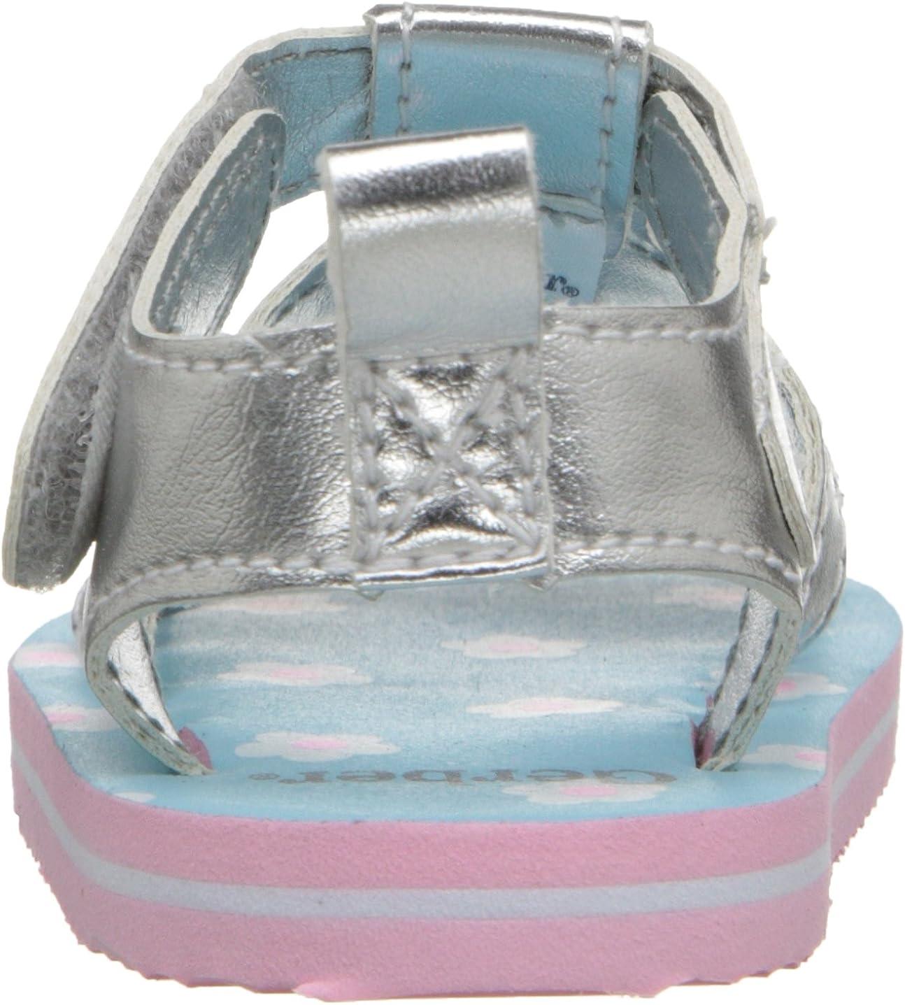 Infant Gerber Silver Flower EVA Sandal