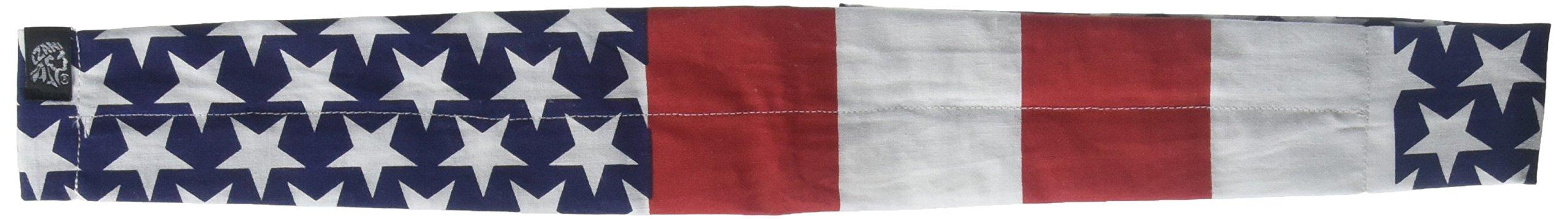 ZANheadgear Cooldanna 100 Percentage Cotton USA Flag Head and Neck Tie