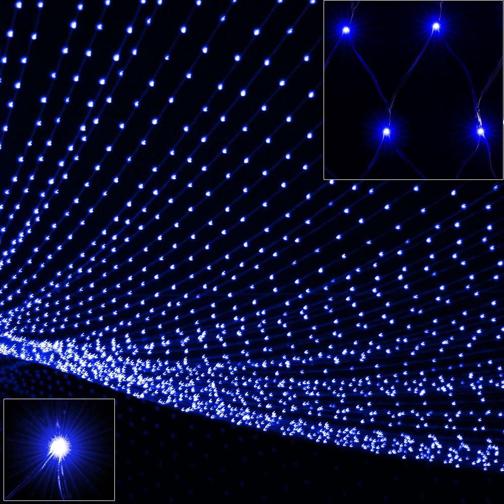 Deuba 120 LED Netzlichterkette Lichterkette blau | Außen & Innen ...