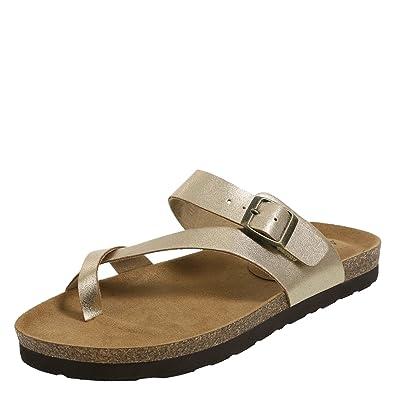 3b6a380cc Lower East Side Gold Women s Opal Flat Sandal 7.5 Regular