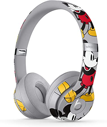 Amazon Com Beats Solo3 Wireless On Ear Headphones Apple W1 Headphone Chip Class 1 Bluetooth 40 Hours Of Listening Time Mickey S 90th Anniversary Edition Grey Previous Model