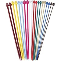 Imported Set of 20 Pcs Multicolor Plastic Knitting Needles Single Pointed Needles