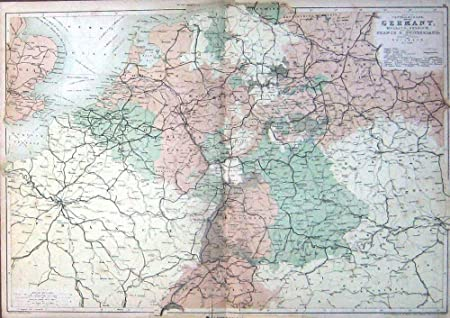 Map Of France Holland And Germany.Antique Map Germany Holland Belgium France Switzerland Amazon Co Uk