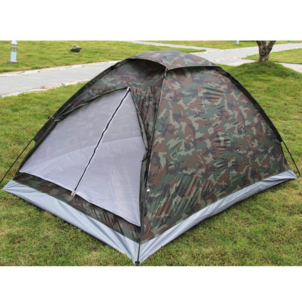 Docooler® Camping Tent for 2 Person Single Layer Waterproof Outdoor Portable Camouflage 141[並行輸入]   B00M3YDW9W