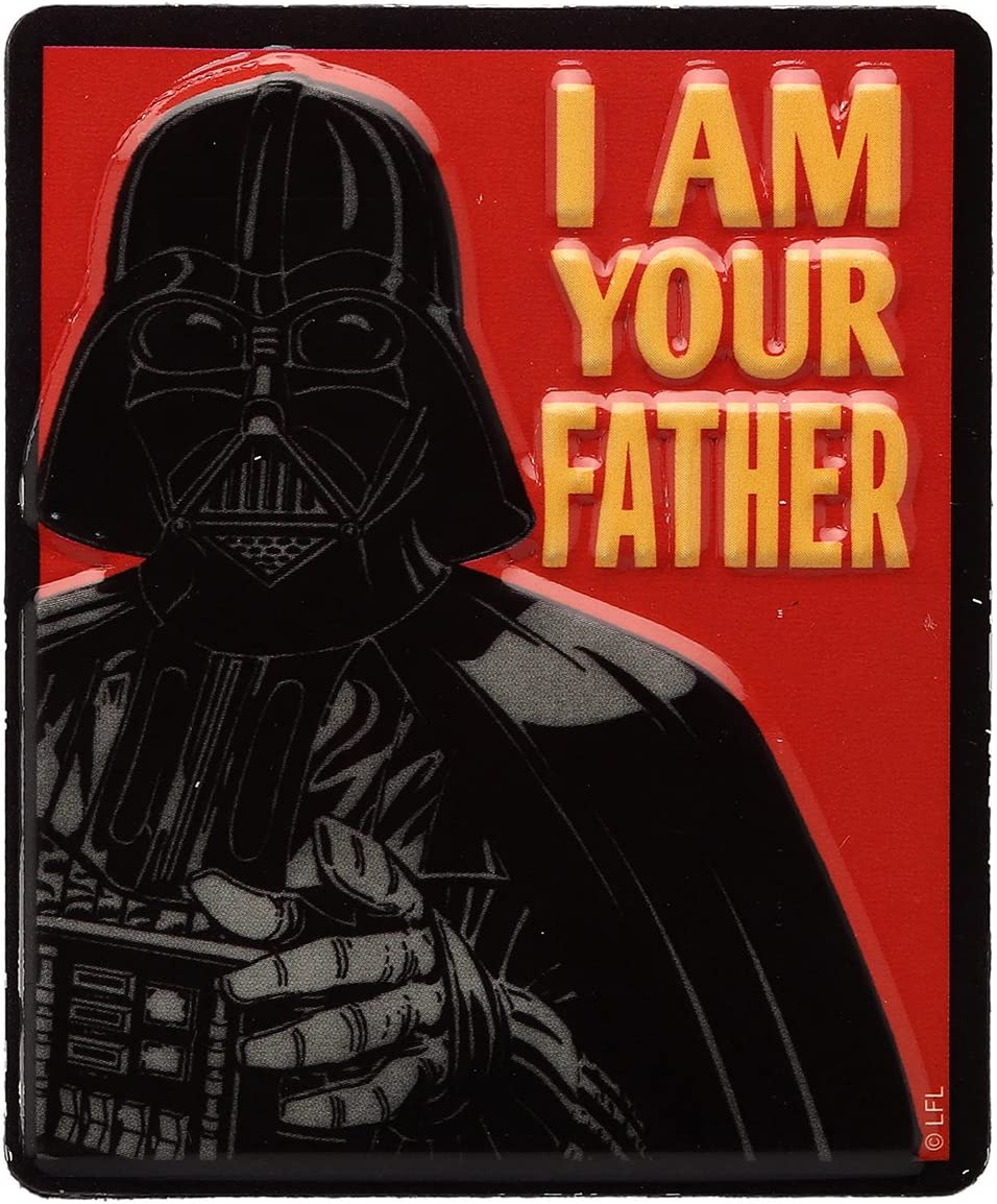 Open Road Brands Star Wars Darth Vader I Am Your Father Embossed Metal Magnet Art Sign - an Officially Licensed Product Great Addition to Add What You Love to Your Home/Garage Decor
