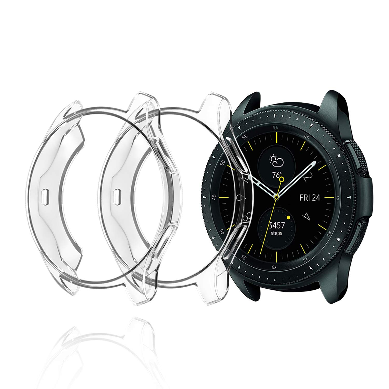 2 Fundas Transparentes Samsung Galaxy Watch 42mm Sm-r810
