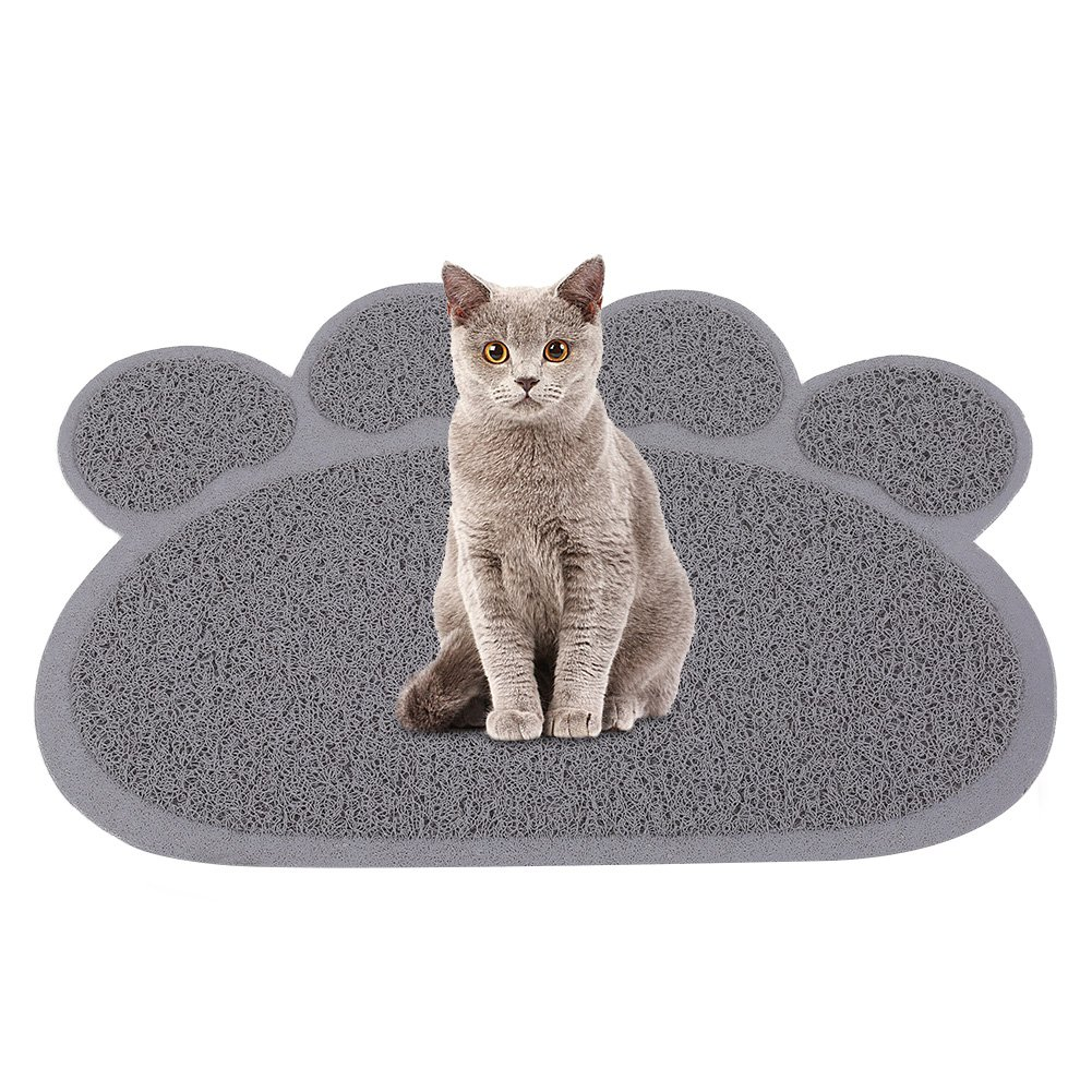 Petacc Cat Litter Mat Waterproof Cat Litter Pad Non slip Kitty Litter Catcher with Cat Paw Pattern Suitable for All Cats