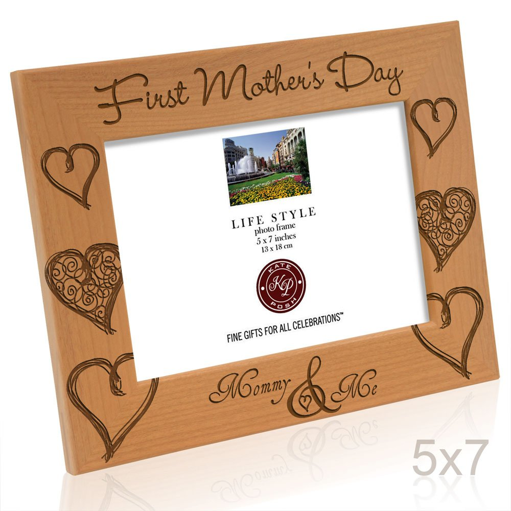 Kate Posh First Mothers Day with Mommy /& Me Picture Frame 4x6 - Vertical