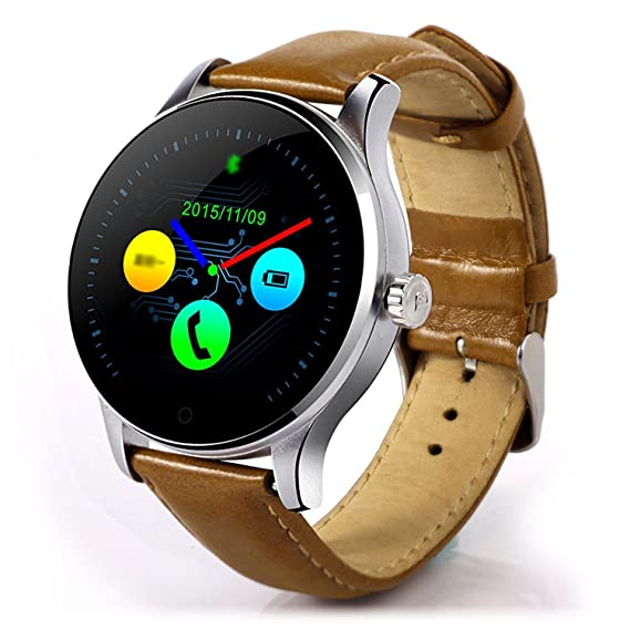 Amazon.com: YIMOHWANG K88H Smart Watch Round Screen Support ...