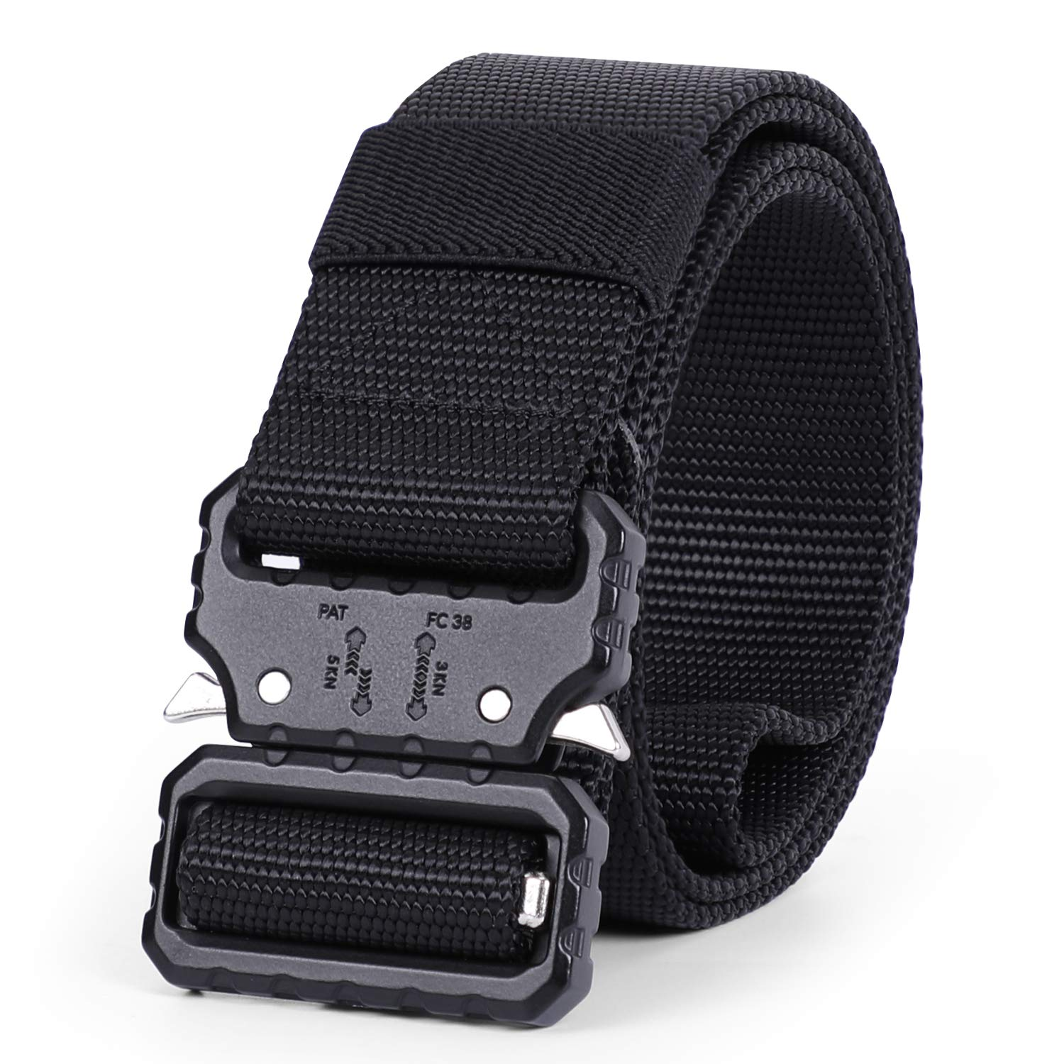 Whippy 2019 Tactical Military Webbing Nylon Belt,Webbing Gun Belt in Quick-Release Metal Buckle Price: $10.99