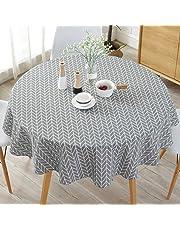 Mantel de estilo nórdico simple, manteles redondos para mesa circular, a prueba de polvo