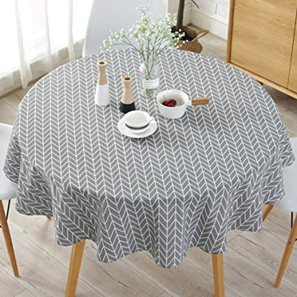simple nordic style tablecloth round tablecloths for circular table rh amazon co uk
