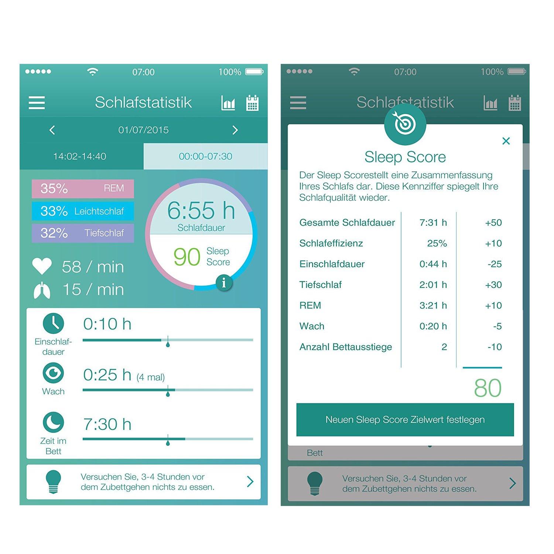 Beurer sleepex Pert se 80 con dormir Atlas, sensor de dormir para profesionales Dormir Análisis: Amazon.es: Salud y cuidado personal