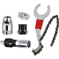 Funxim fietscassette-verwijdergereedschap, multifunctionele fietsreparatieset met 5-11 compatibele kettingzweep, trapas…