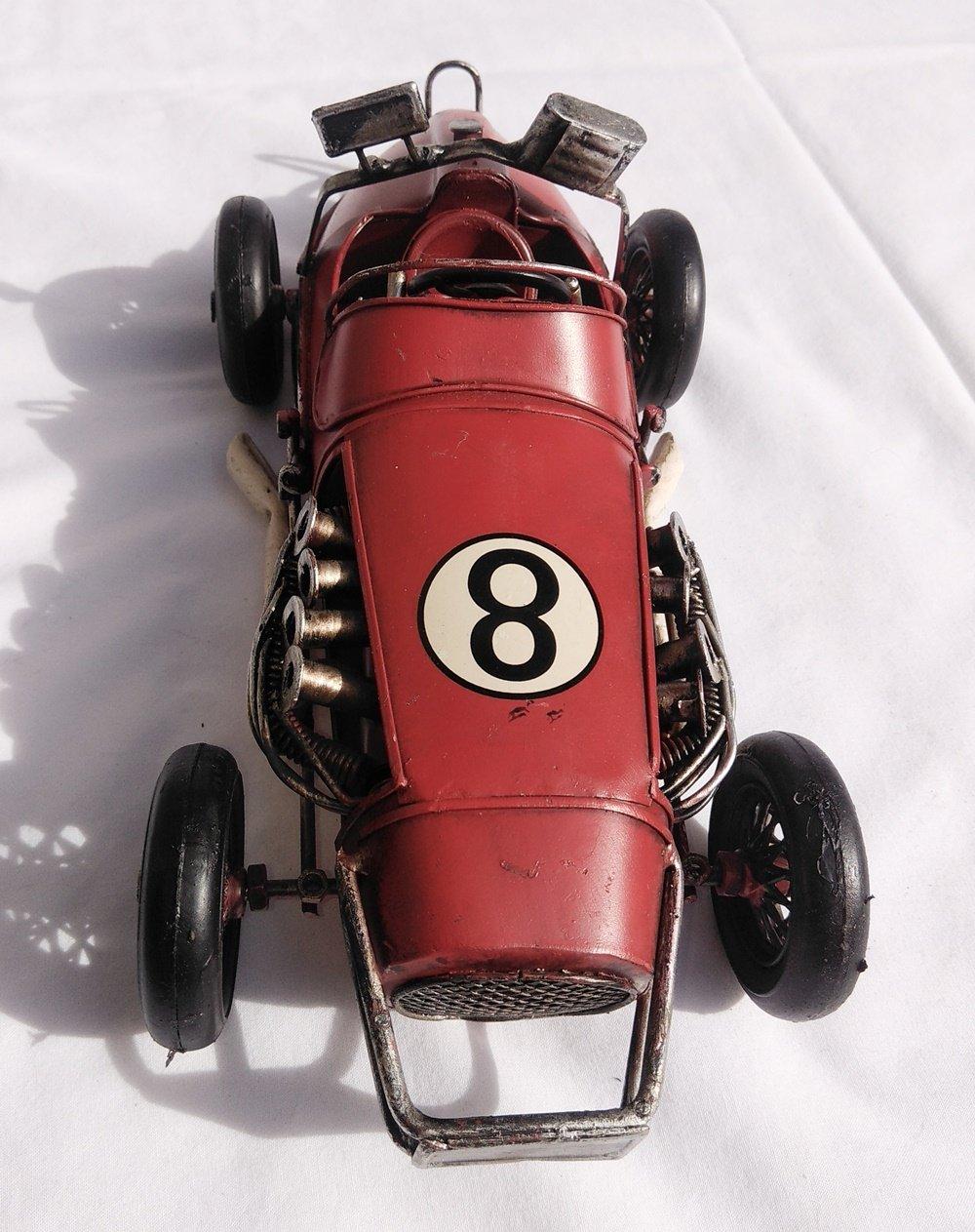 Fandg forniture lovely Large (31CM) vintage retrò metallo Brooklands Racer metal Racing Car ornaments- disponibile in due colori–grande idea regalo per qualsiasi mensola o scrivania. Green SIL