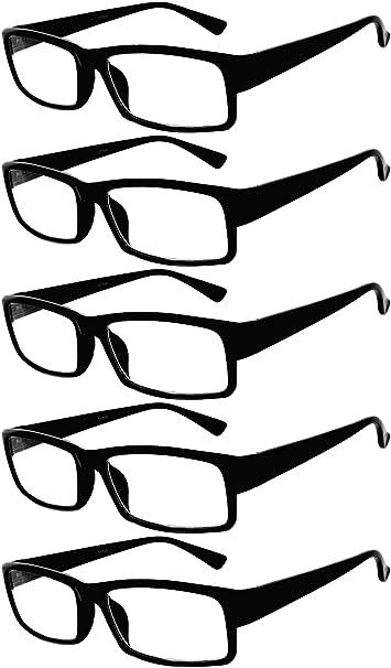74075802f29 Amazon.com  5 Pack of Reading Glasses Elegant Mens Womens Readers Designer  0.5  Clothing