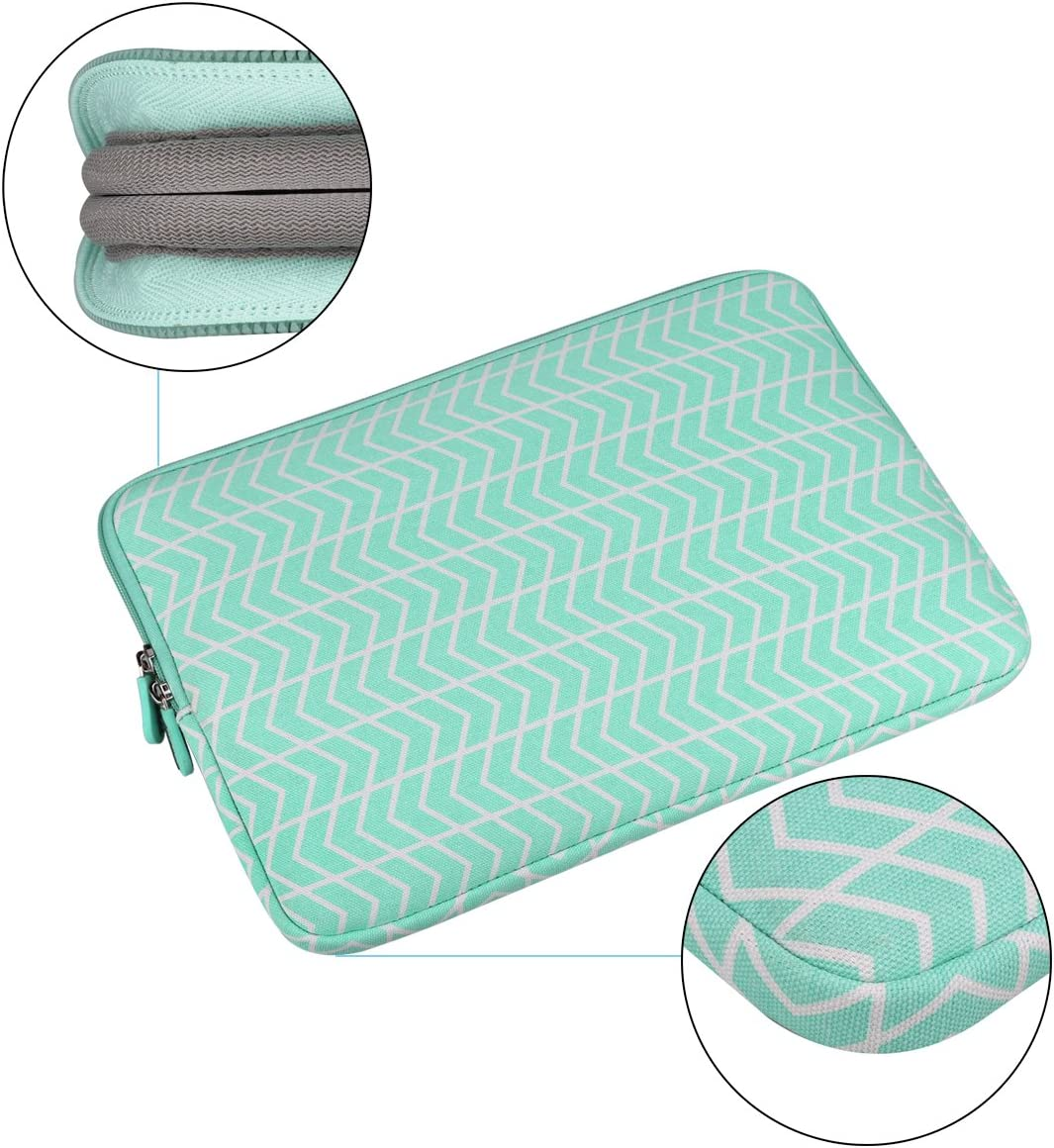 13-14 Inch Laptop Sleeve with Small Case Aucase Thickest Lightest Water Resistant Canvas Protective Case