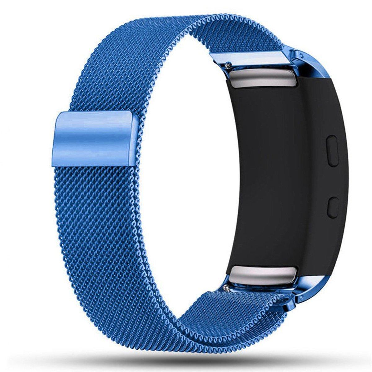 BarRan reg; Gear Fit2/Gear Fit2 Pro Correa de Reloj, Milanesa Loop Correa Acero Inoxidable Brazalete SmartWatch Banda para Samsung Gear Fit 2 ...