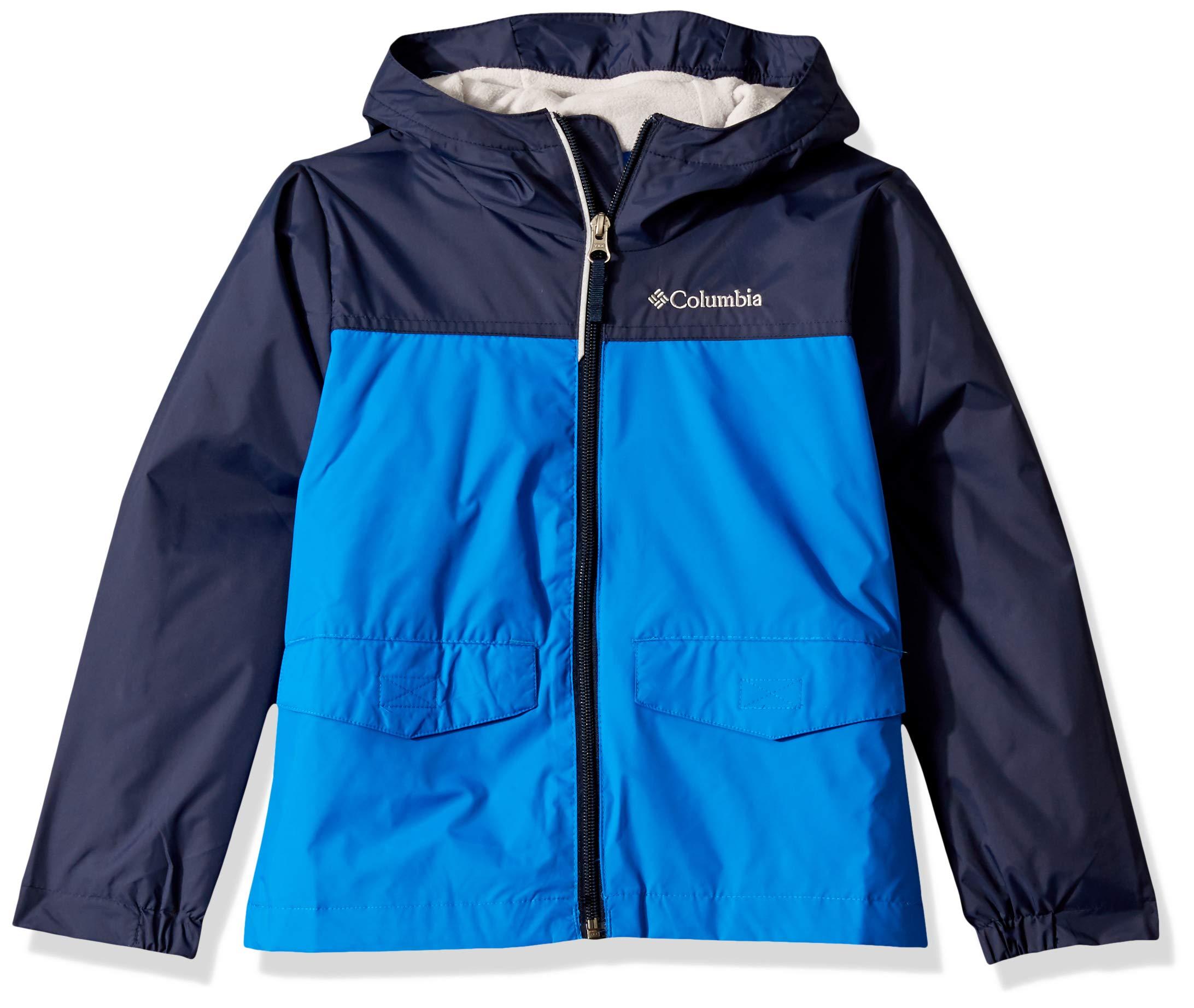 Columbia Boys' Big Rain-Zilla Jacket, Super Blue/Collegiate Navy, Medium