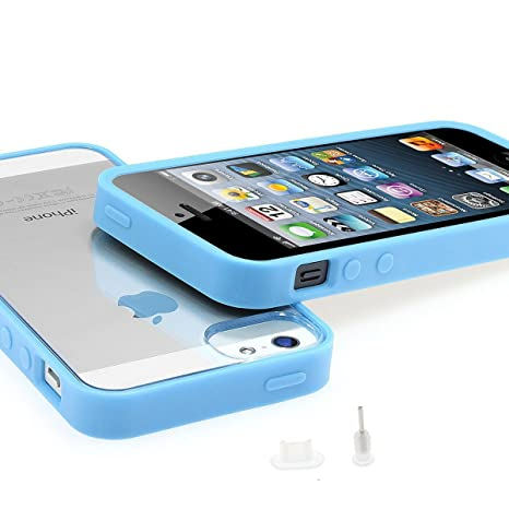 XAiOX® iPhone 5 5S Bumper con Crystal Carcasa trasera ...