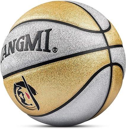 Kuangmi - Balón de Baloncesto (Talla 5), Color Dorado y Plateado ...