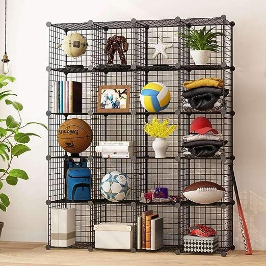 KOUSI Libreros y estanterías en Forma de Cubo con estantería Multifuncional 20 Cubos 20 Cubos: Amazon.es: Hogar