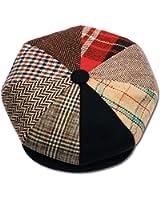 Mens Patchwork Wool Big Apple Duckbill Ivy Newsboy Irish Tweed Cap Hat