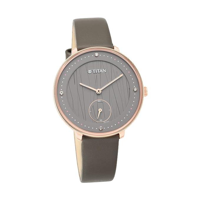 Titan Analog Grey Dial Women's Watch 2651WL01 Women's Wrist Watches
