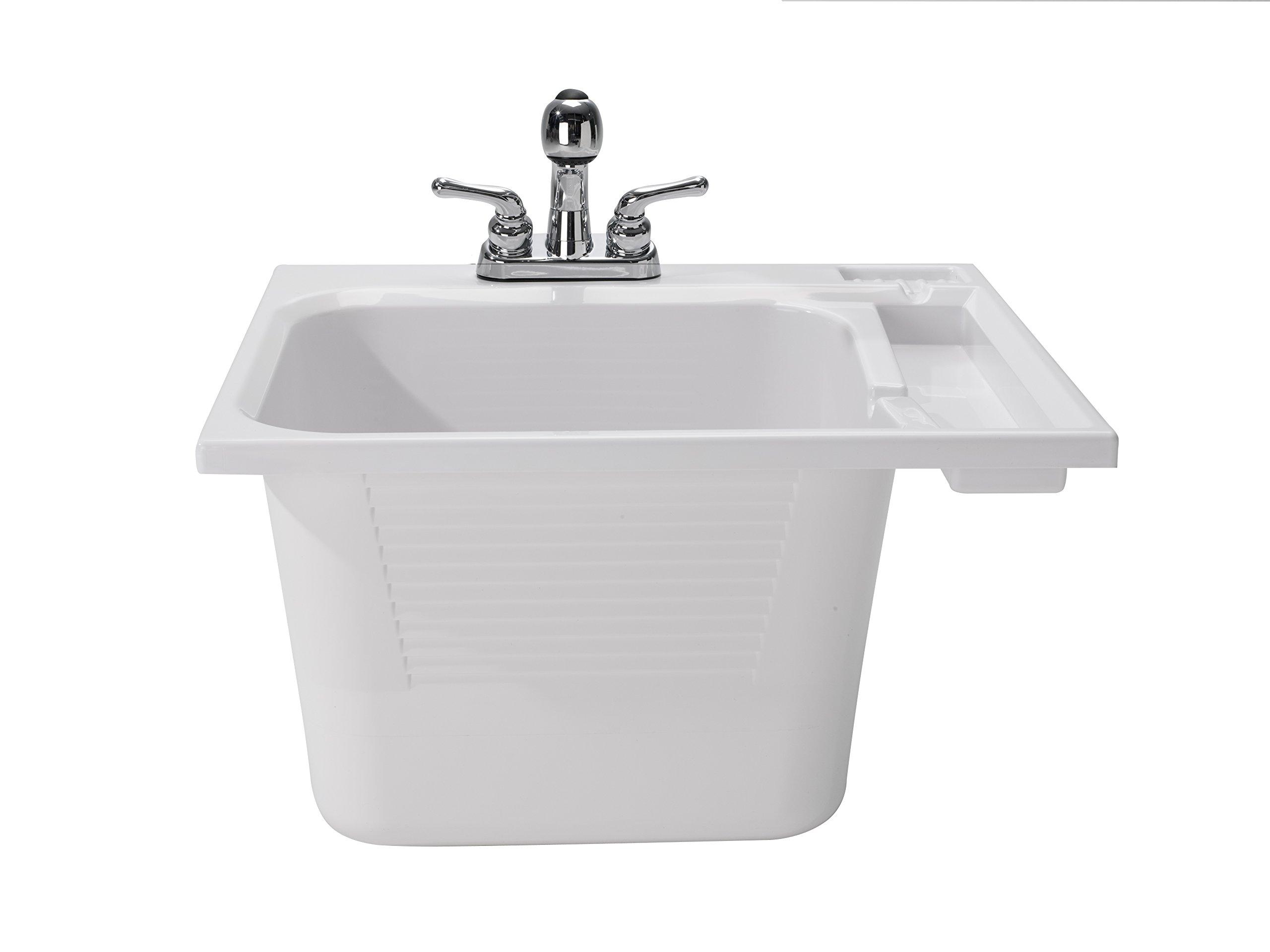 CASHEL 1970-33-01 Drop-In Sink - Fully Loaded Sink Kit, White