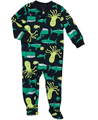 300c35229 Amazon.com  Carter s Toddler Boys Sea Life Zip Front Footed Blanket ...