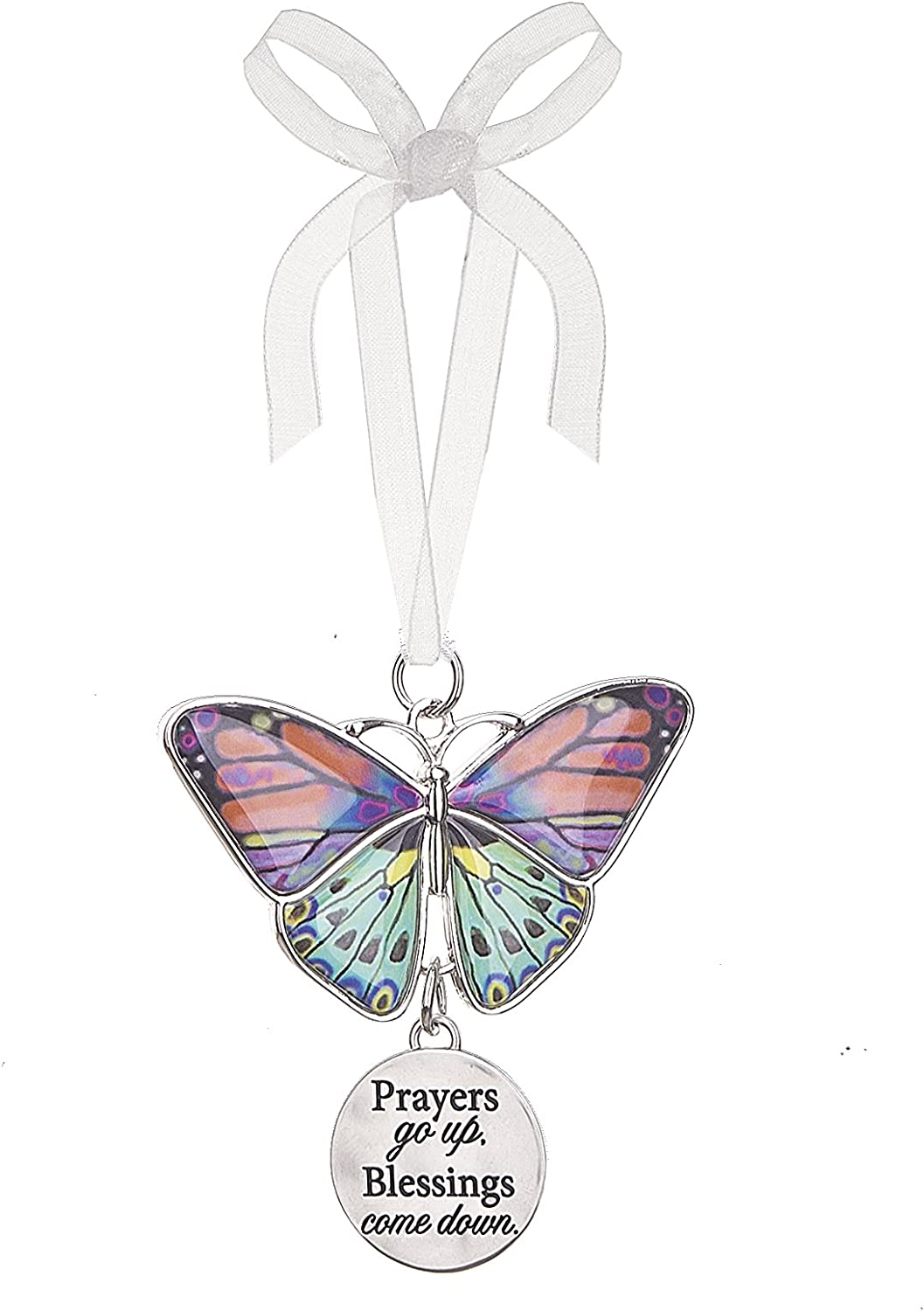 Ganz Home Decor Christmas/Spring Blissful Journey Butterfly Ornament (Prayers go up. Blessings Come Down EA13541)