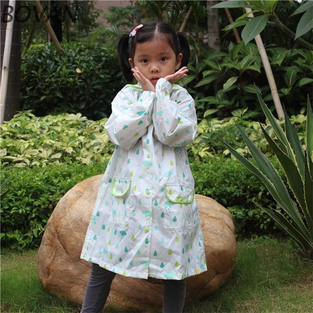 vert L WYJW Vestes imperméables Enfant Imperméable Garçon Fille Fille Poncho étudiant Imperméable bébé Prougeection de l'environneHommest Insipide
