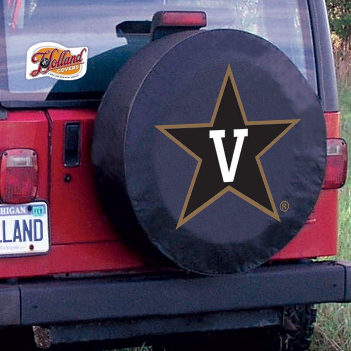 31.25x11 Holland Bar Stool Co Vanderbilt Tire Cover TCLGVanderBK Black LG
