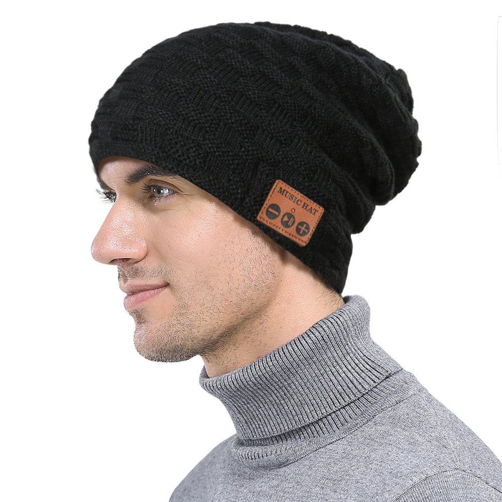 dbb104d64 xinmaous Bluetooth Headphone Beanie Hat, V4.2 Stereo Wireless Smart Music  Headset Knit Cap, Winter for Men Women Girls Guys Teens, Christmas Gift -  ...
