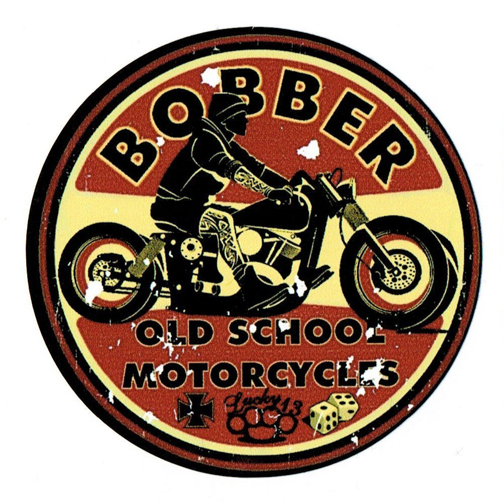 Oldschool bobber youngtimer sticker sticker harley biker chopper amazon co uk car motorbike