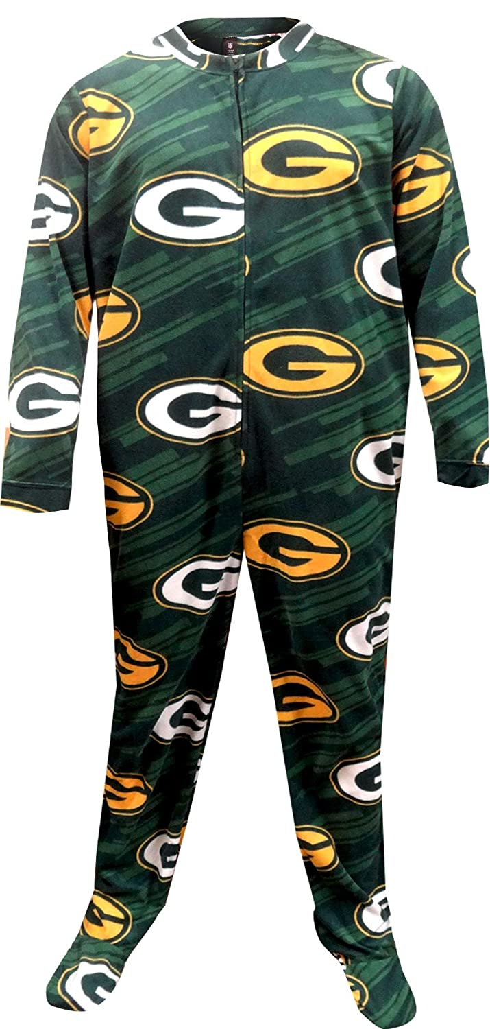 9f63ee21 Concepts Sport Men's Greenbay Packers One Piece Footie Pajama at ...